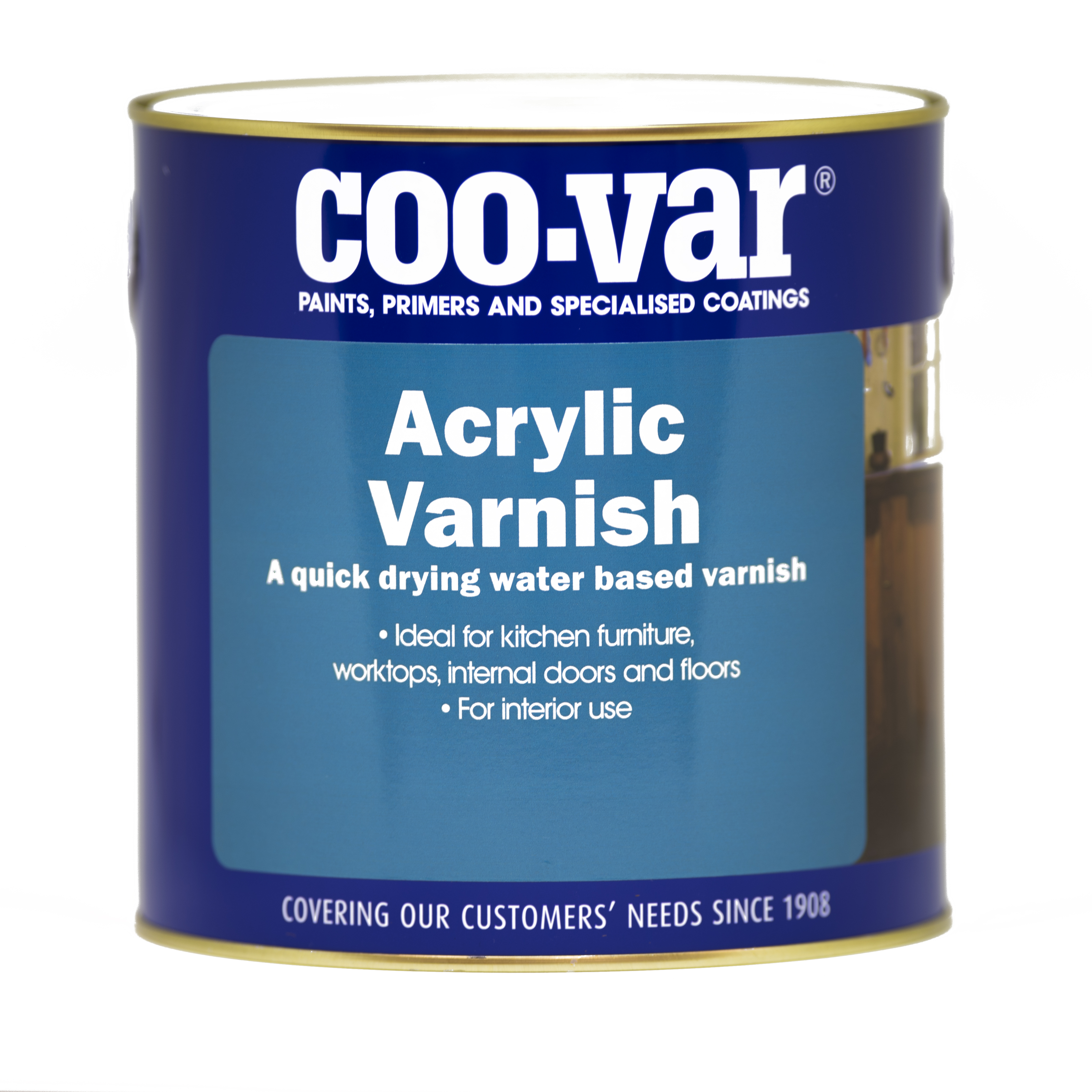 W/BASED ACRYLIC VARNISH EGGSHELL  250ml