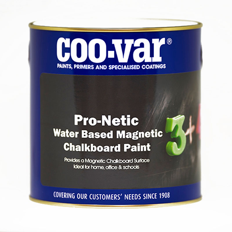 COO-VAR W/B PRO NETIC MAGNETIC BOARD 500ML AND CHALKBOARD PAINT