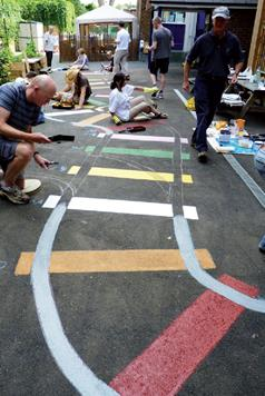 Acrylic Floor Paint - School Train Track