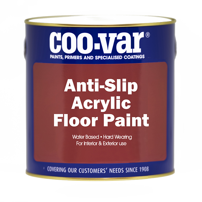 ANTI-SLIP ACRYLIC FLOORPAINT GREY 2.5L           ******   NEW PRODUCT   ******