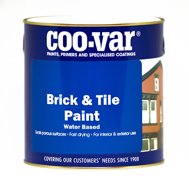 WATER BASED BRICK and TILE MATT RED 1LITRE