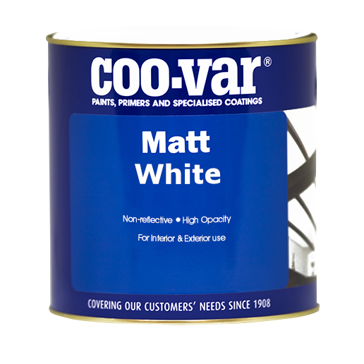 COO-VAR MATT WHITE 500ML